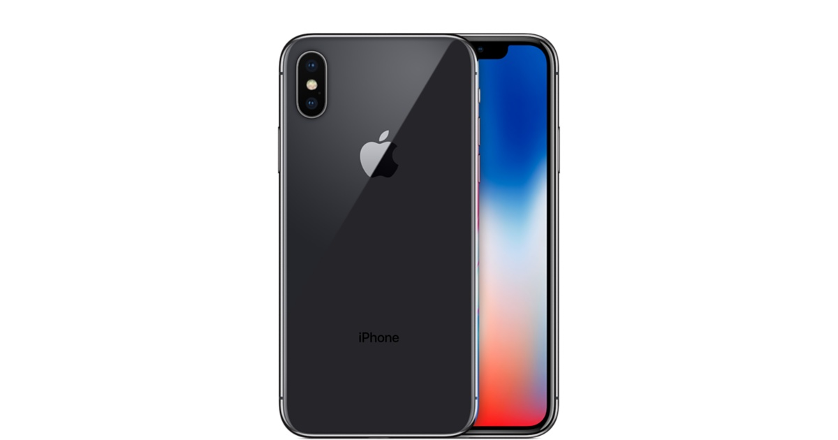 iPhone X in gray