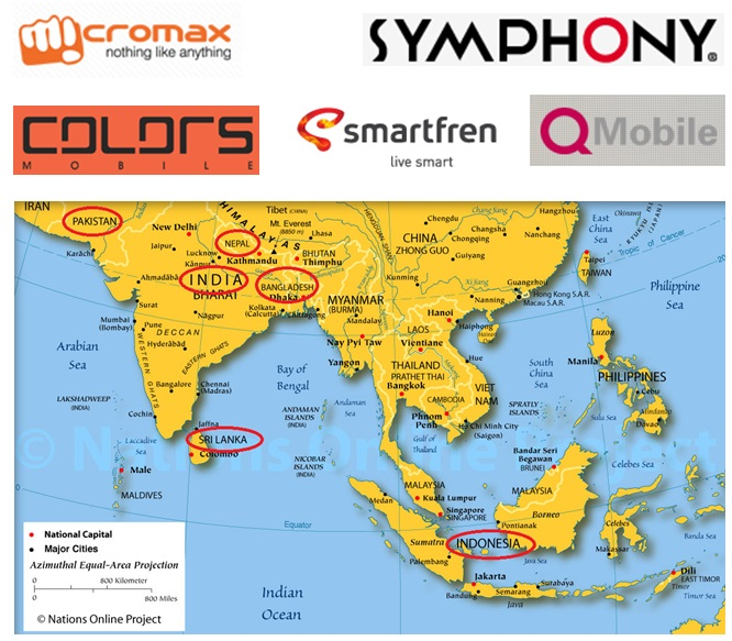 Big Map Of Asia.Big 6 Southeast Asian Countries And Local Smartphone Vendors Are Rising