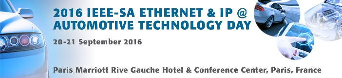 IEEE-SA Ethernet & IP @ Automotive Technology Day
