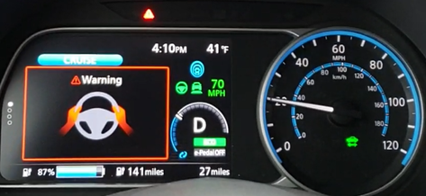 Nissan ProPILOT Assist attention warning