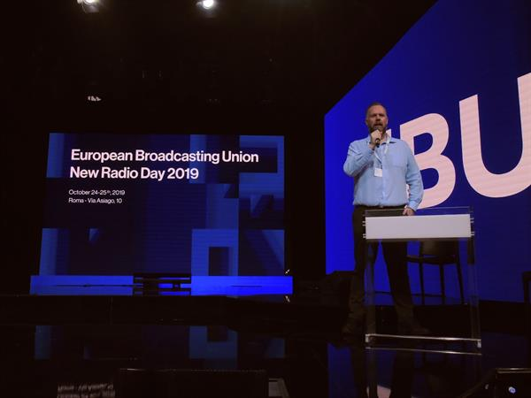 Kevin Nolan presents at EBU New Radio Day 2019