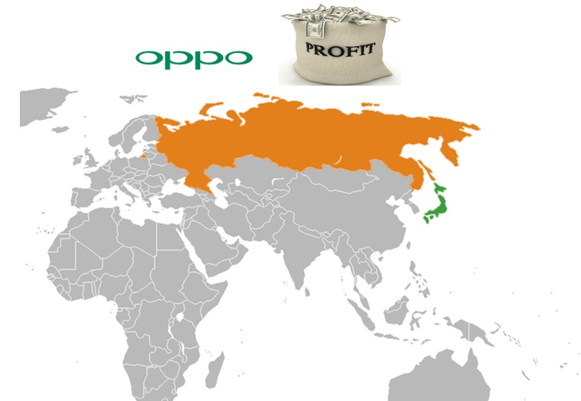 Oppo to enter Russia and Japan