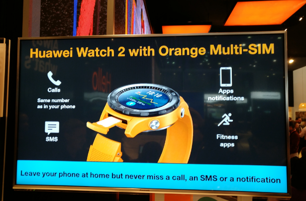Orange Huawei Watch 2