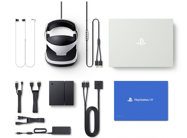Sony's PlayStation VR device, processor unit and accessories. Source: Sony